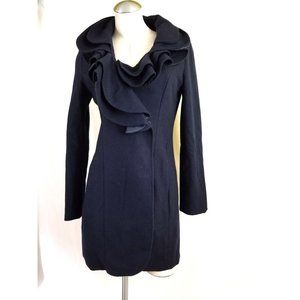Pink Martini Size S Blue Coat w/ Ruffle Collar
